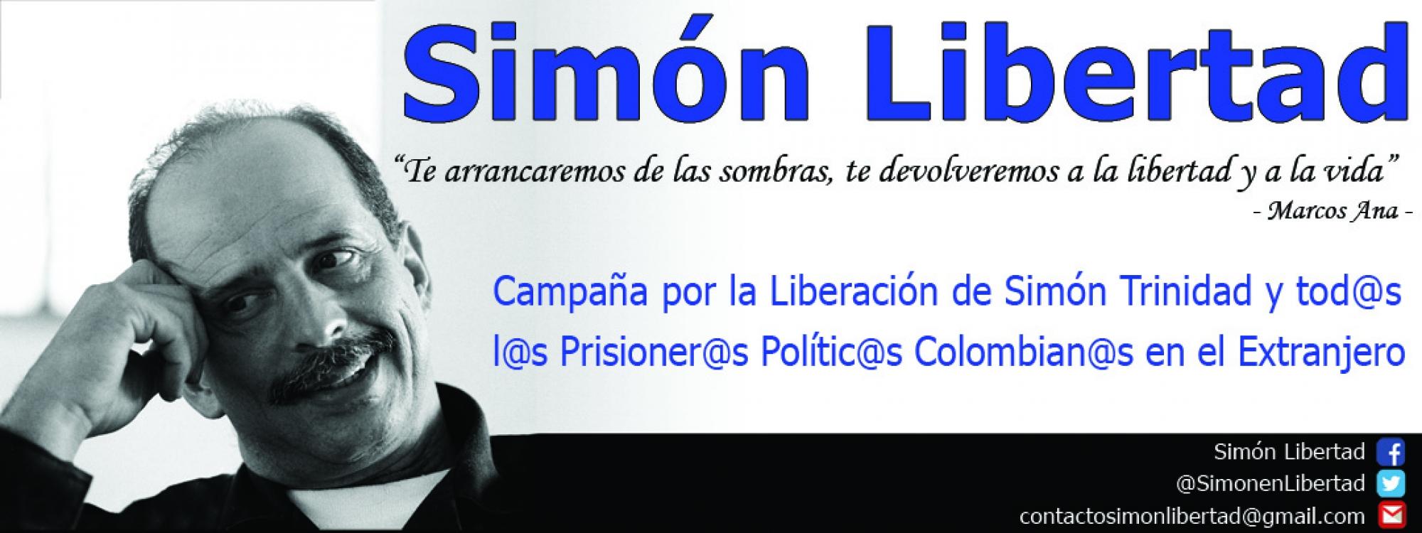 Banner de la campaña de Simón Trinidad