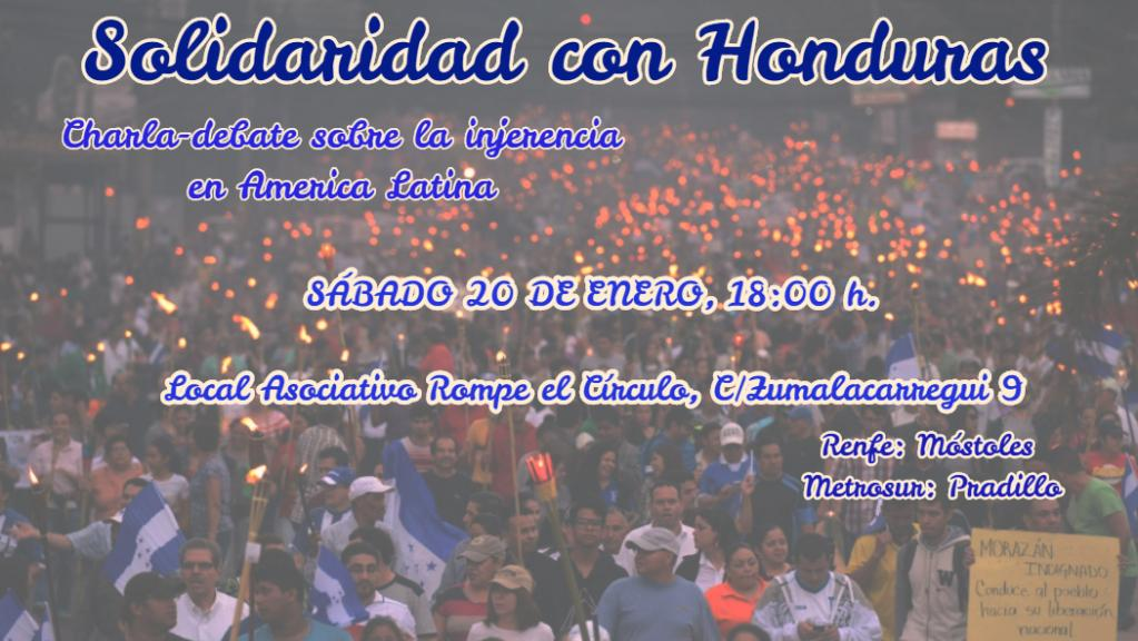 Cartel de Solidaridad con Honduras