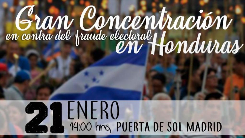 Cartel Gran Concentración Honduras
