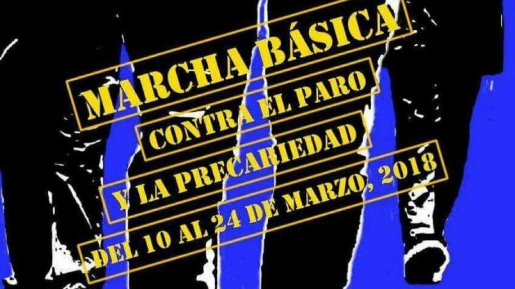 Cartel de la Marcha básica contra el paro y la precariedad
