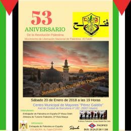 53 Aniversario de la Revolución Palestina
