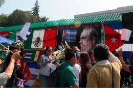 Manifestación en honor del Che organizada por el Movimiento Mexicano de Solidaridad con Cuba